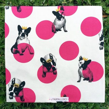 Pochette square Bulldog (by Il Farfallino)